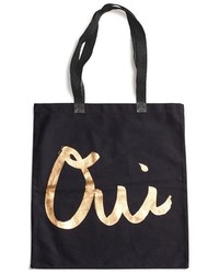Ouinon canvas tote black medium 3996421