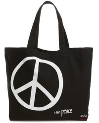 Oversized canvas tote black medium 4950274