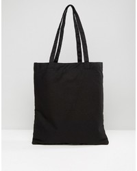 Asos Tote Bag In Black