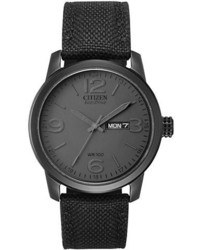 Black Canvas Watch