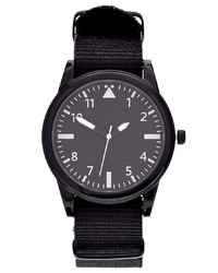 Asos Watch With Black Canvas Strap