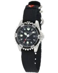 Momentum 1m Dv01b8b M1 Black Dial Black Re Ply Nylon Dive Watch