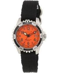 Momentum 1m Dv01o8b M1 Orange Dial Black Re Ply Nylon Dive Watch