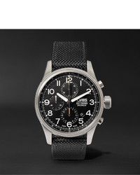 Pro pilot automatic chronograph 44mm stainless steel and canvas watch medium 1245639