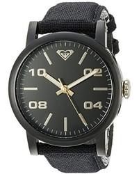 Roxy Rx1000bkti The Victoria Black Canvas Strap Watch