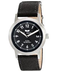 Vestal Unisex Abc3c05 Alpha Bravo Canvas Analog Display Quartz Black Watch