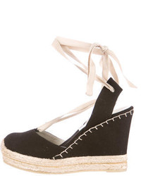 Ralph Lauren Collection Lace Up Wedge Espadrilles