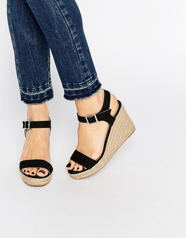 Black Halloumi Sandals57Asos Wedge Espadrille Pieces 5LAR34j