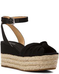 88c7a21761dd Women s Black Canvas Wedge Sandals by MICHAEL Michael Kors