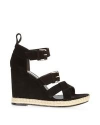 Balenciaga Multi Strap Espadrille Wedge Sandals