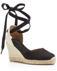 Soludos Tall Lace Up Espadrille Wedge Sandals