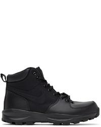 Nike Black Manoa Lace Up Boots