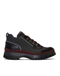 Prada Red And Grey Hybrid Hiking Boots