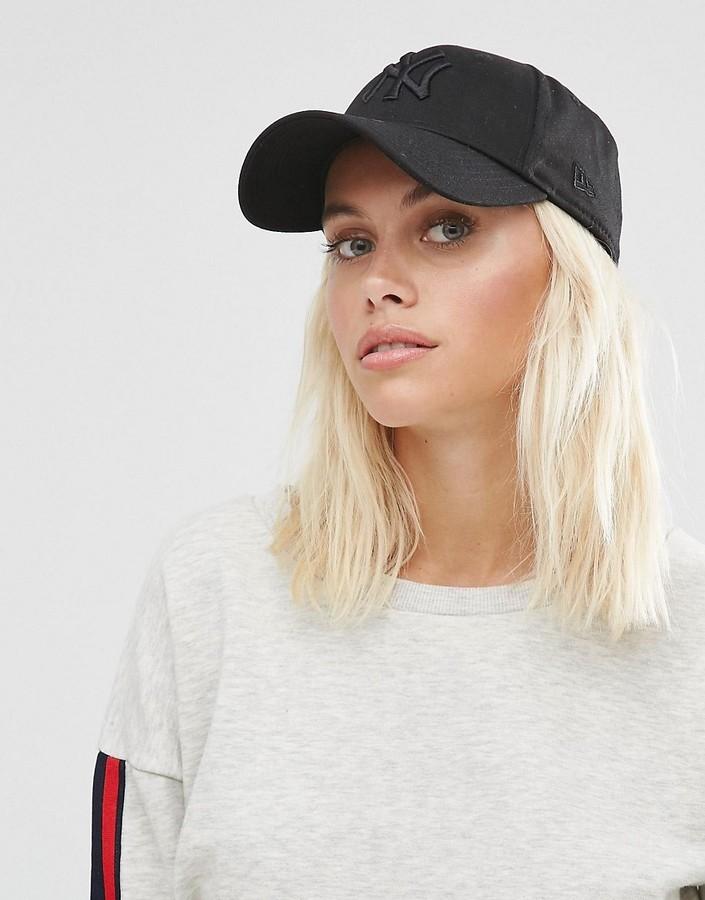 e856a309f22 ... Black Caps New Era 9forty Cap With Tonal Ny Logo ...