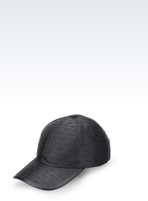 eef8a18ca0d69 ... Armani Jeans Baseball Cap In Logoed Fabric ...
