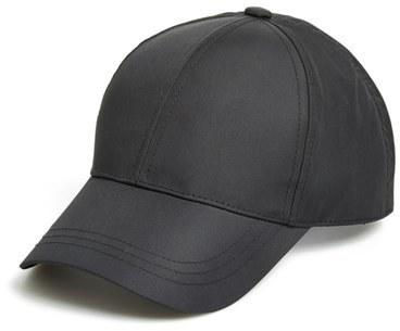 August Hat Nylon Baseball Cap Black