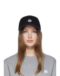 Moncler Black Baseball Cap