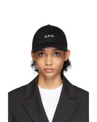A.P.C. Black Denim Charlie Cap