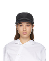 Maison Michel Black Topstitched Abby Cap