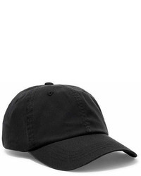 Acne Studios Carliy Embroidered Canvas Cap Black