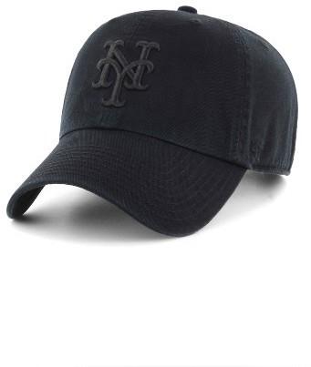 '47 Clean Up Ny Mets Baseball Cap Black