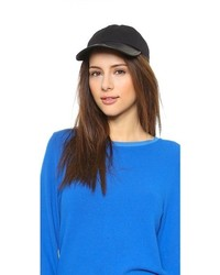 Hat Attack Canvas Leather Baseball Cap