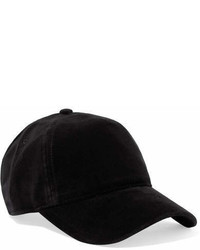 Rag & Bone Marilyn Leather Trimmed Velvet Baseball Cap Black