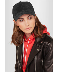 Rag & Bone Marilyn Suede Baseball Cap Black
