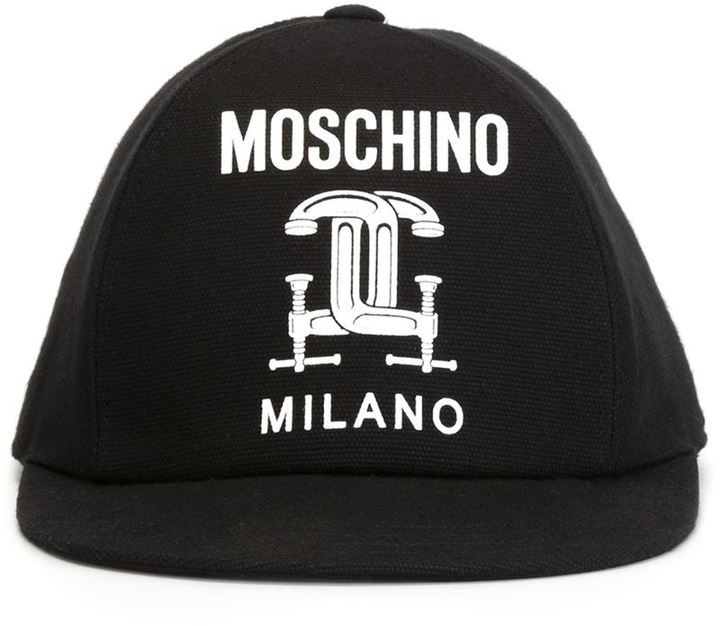 Moschino Interlocking C Clamp Baseball Cap