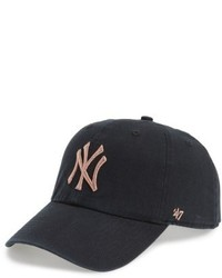 '47 Ny Yankees Metallic Embroidery Baseball Cap Black
