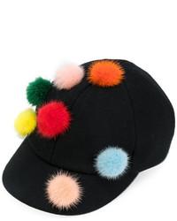 Fendi Pom Pom Baseball Cap