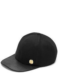 Vince Camuto Quilted Brim Wool Baseball Cap