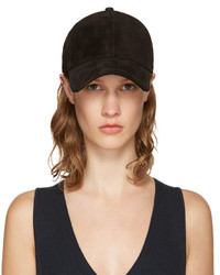 Rag & Bone Rag And Bone Black Suede Marilyn Baseball Cap