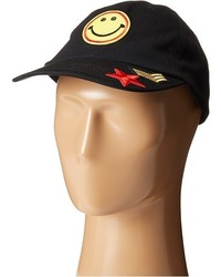 Steve Madden Smiley Face Patch Baseball Cap Caps