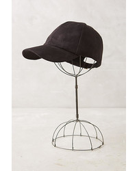 Anthropologie Sueded Baseball Cap
