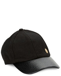 Vince Camuto Faux Leather Accented Baseball Cap