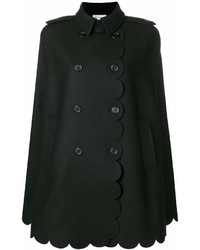 RED Valentino Armure Scallop Detail Coat