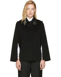 Fendi Black Flowerland Cape