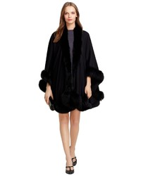 Brooks Brothers Cashmere And Fox Fur Cape