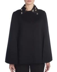 Fendi Embellished Double Faced Wool Cape