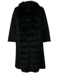 Ermanno Scervino Fur Collar Cape