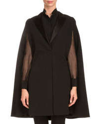 Givenchy One Button Tuxedo Cape Black