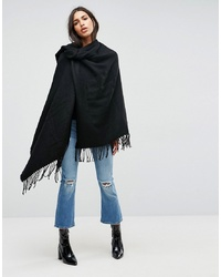 ASOS DESIGN Plain Cape In Black