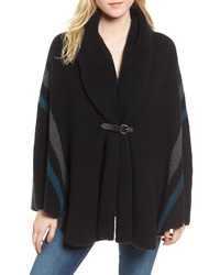 James Perse Stripe Merino Wool Blend Blanket Cape