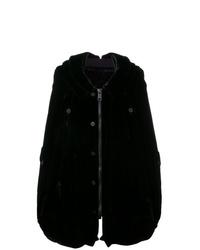 Vera Wang Velvet Oversized Hooded Coat
