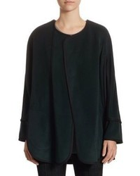 Akris Punto Wool Cashmere Cape Jacket