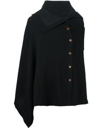 Y's Asymmetric Patch Pocket Cape