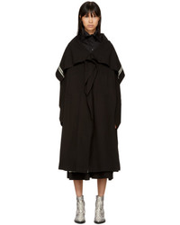 Y's Ys Black Cape Coat