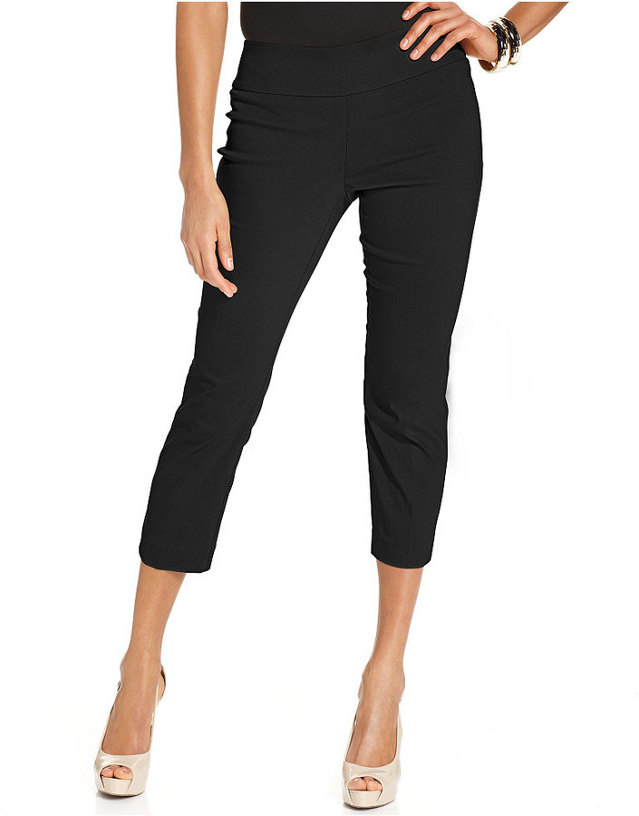 Alfani Tummy Control Pull On Capri Pants Only At Macys | Where to ...