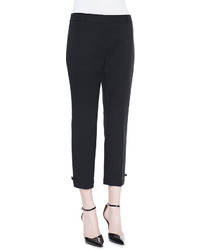 Kate Spade New York Jackie Bow Cuff Capri Pants
